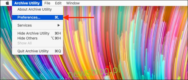 Kliknij opcję Preferencje w menu Narzędzia archiwum
