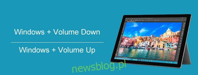 zrzut ekranu tabletu windows-10