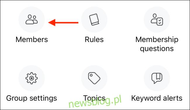 Kliknij przycisk Członkowie