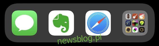 Folder w Docku iOS.