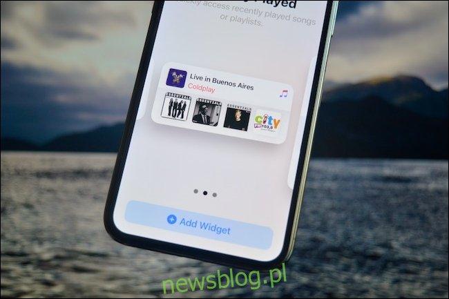 Wybór wersji widżetu w iOS 14