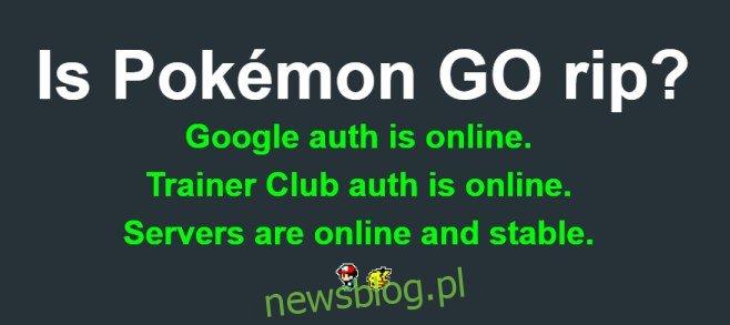 jest zgrywanie Pokémon GO