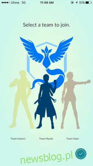 Wybrano drużynę pokemonów