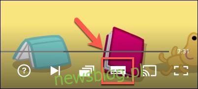 Kliknij ikonę Audio i napisy.