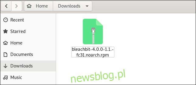 Plik instalacyjny BleachBit w
