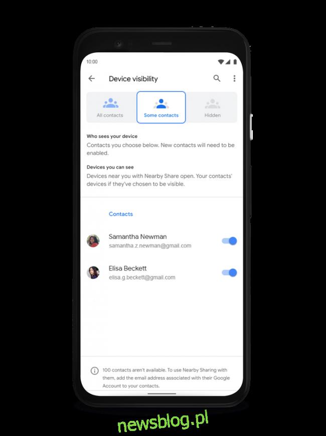 Android w pobliżu udostępnia prywatność