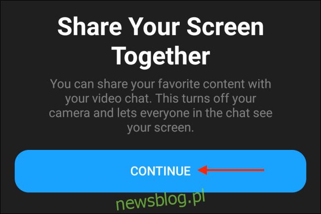 Stuknij Kontynuuj w Messengerze na Androida
