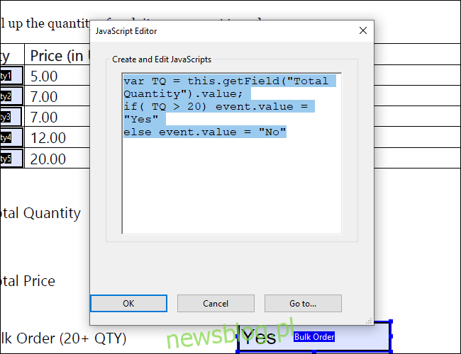Adobe Acrobat Javascript