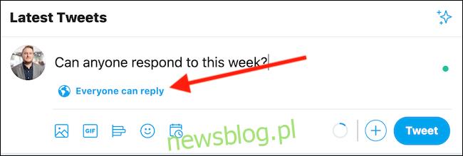 Utwórz tweet, a następnie kliknij