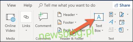 kliknij przycisk pola tekstowego
