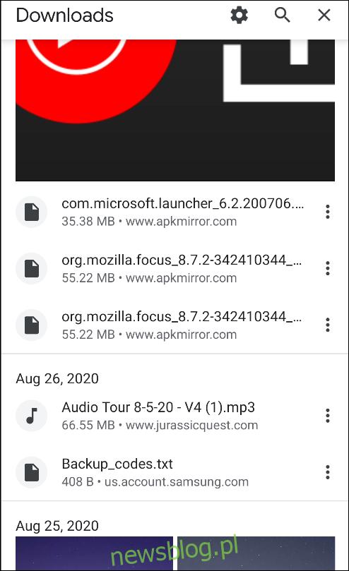 strona pobierania chrome dla Androida