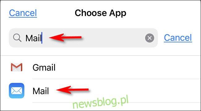 Wyszukaj aplikację, którą chcesz otworzyć.