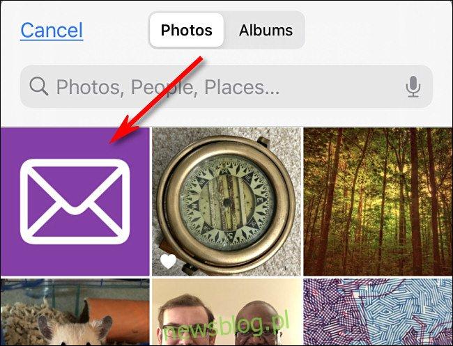 Stuknij obraz, którego chcesz użyć jako niestandardowej ikony w Zdjęciach iPhone'a.