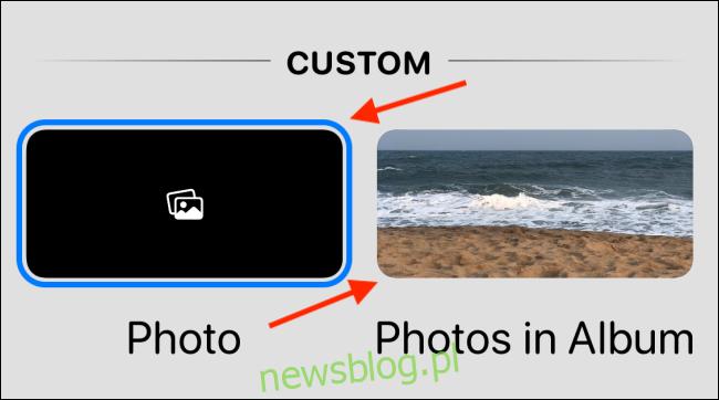 Wybierz opcję Zdjęcie lub Zdjęcia w albumie