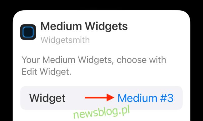 Stuknij opcję Widget