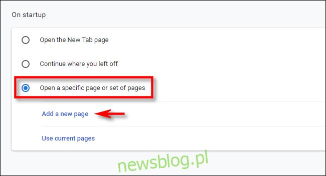 W ustawieniach Chrome kliknij