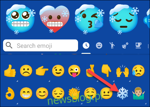 Wybierz pierwszy emoji, który chcesz umieścić w mash-upie.