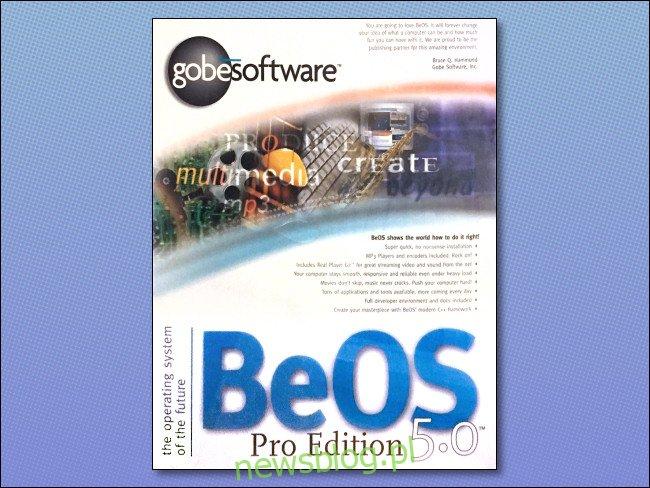 Pudełko BeOS 5.0 Pro Edition.