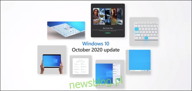 Grafika marketingowa aktualizacji systemu Windows 10 z października