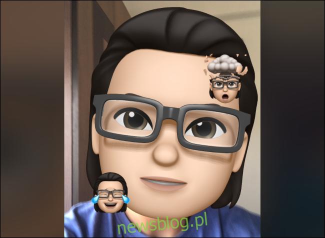 Memoji z naklejkami Memoji w FaceTime