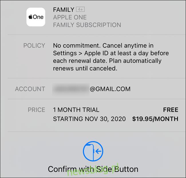 Potwierdź swoją subskrypcję Apple One