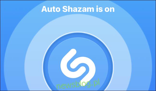 Tryb Auto Shazam włączony w aplikacji Shazam na iPhonie