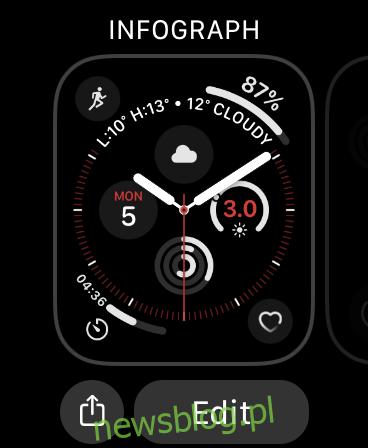 Edytuj tarczę zegarka Apple Watch