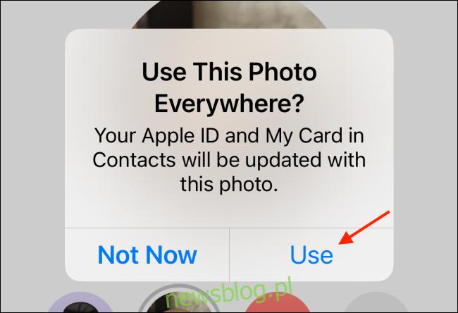 Stuknij Użyj, aby używać zdjęcia wszędzie