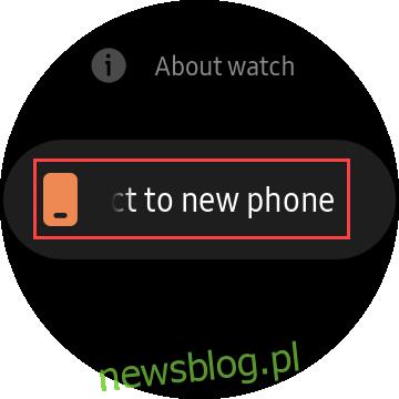 połączyć się z nowym telefonem