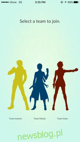 Wybierz zespół pokemonów