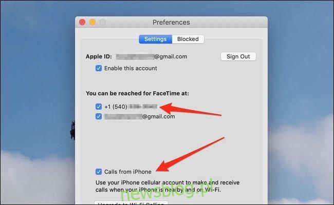 połączenia macos z iPhone'a