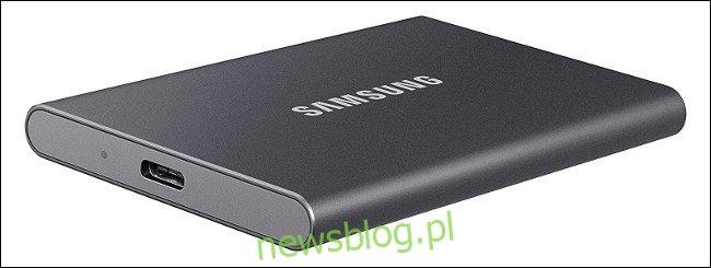 Zewnętrzny dysk SSD Samsung USB.