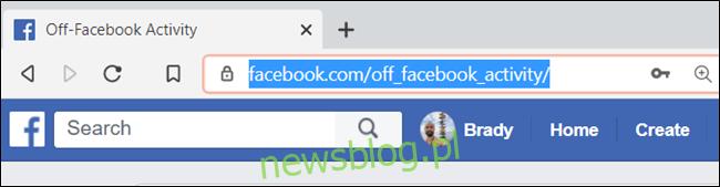 Wpisz adres URL w pasku adresu i naciśnij klawisz Enter.