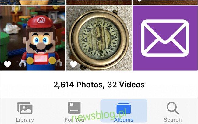 Przykłady niestandardowych obrazów w Zdjęciach iPhone'a.