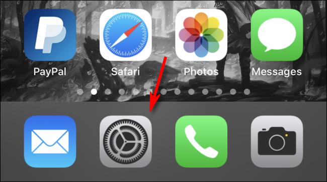 Otwórz Ustawienia na iPhonie