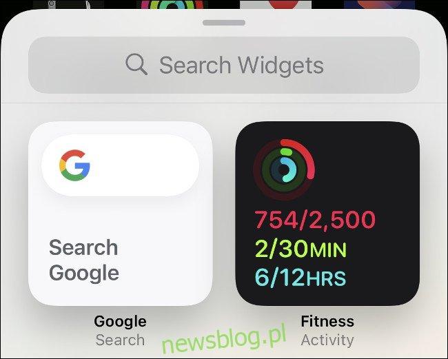 Dodaj widżet aktywności do iPhone'a
