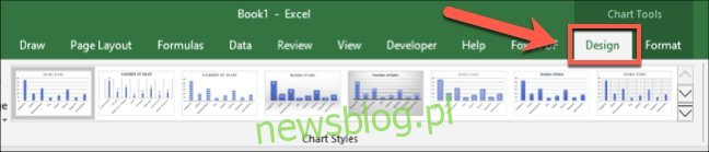 Style wykresów programu Excel są również widoczne po kliknięciu pliku
