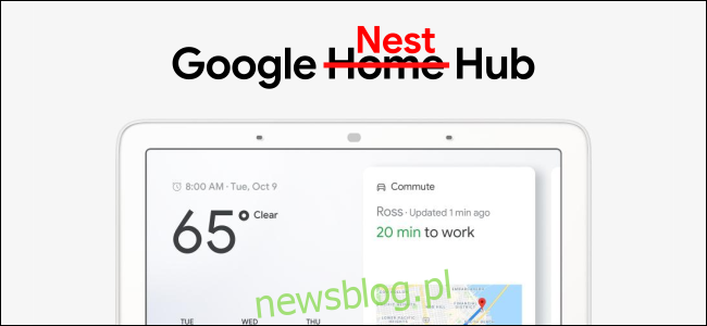 Reklama Google Home Hub ze słowem