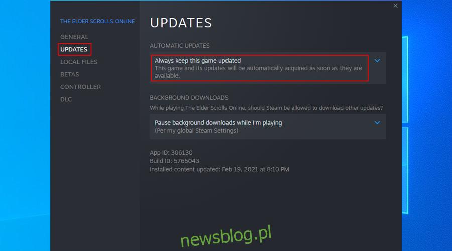 jak zawsze aktualizować gry Steam