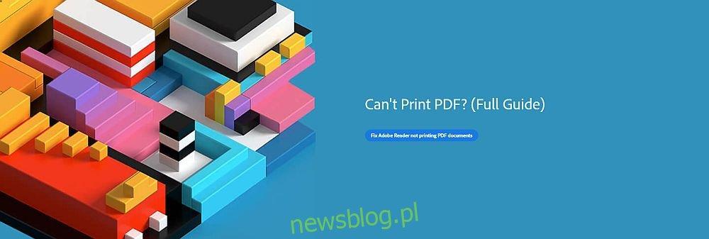 Nie można wydrukować pliku PDF