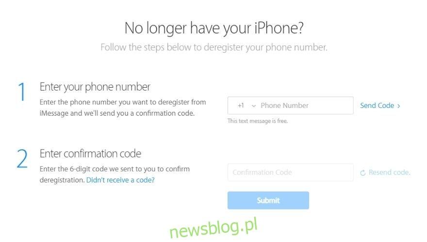 Jak wymazać iPhone'a - wyrejestruj iMessage za pomocą witryny Apple