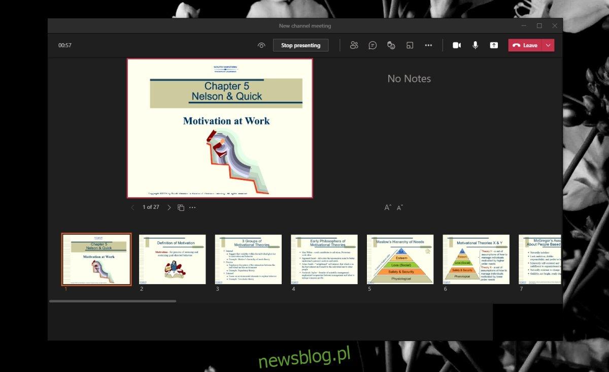 Tryb prezentacji Microsoft Teams
