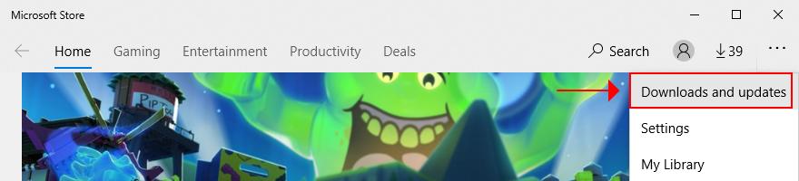 Sklep Microsoft Store pokazuje, jak uzyskać dostęp do plików do pobrania i aktualizacji