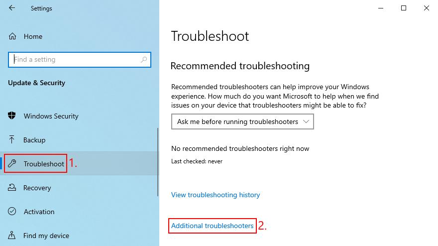 Windows 10 pokazuje, jak uzyskać dostęp do dodatkowych narzędzi do rozwiązywania problemów