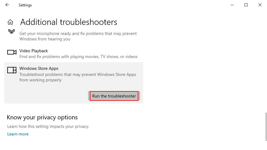 jak uruchomić narzędzie do rozwiązywania problemów z aplikacjami ze Sklepu Windows
